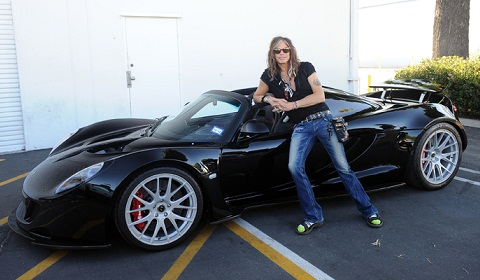 Steven Tyler Takes Delivery Of The First Hennessey Venom