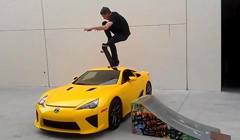 Tony Hawk Jumps Lexus LFA