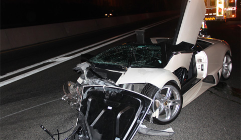 Car Crash: Lamborghini Murcielago LP640 Roadster