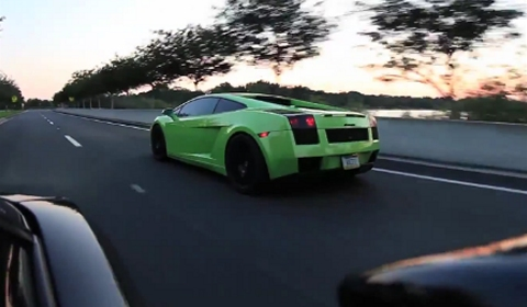Video 1250WHP Underground Racing Twin Turbo Gallardo on Race Gas 110 Octane