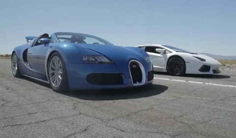 Video Bugatti Veyron vs Lamborghini Aventador vs Lexus LFA vs McLaren MP4-12C