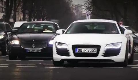 Video Eight Audi R8s in Dusseldorf
