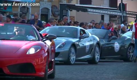 Video Ferrari Tribute to Mille Miglia 2012
