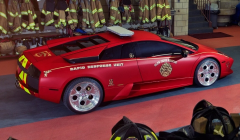 Video Glen Cove Fire Department Lamborghini Murcielago