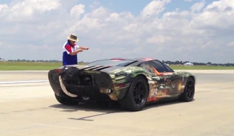 Video Hennessey Ford Gt Sets New Standing  Mile World Record