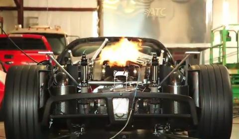 Video Hennessey Venom GT Spyder Shoots Fire on Dyno