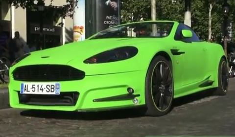 Video Mansory Aston Martin DB9 Wrapped by Dartz in Paris