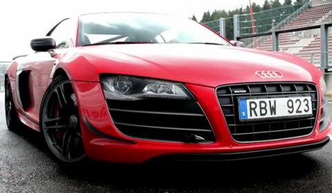 Video Red Audi R8 GT in Action