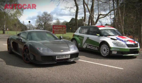 Video Skoda Fabia Rally Car vs Noble M600