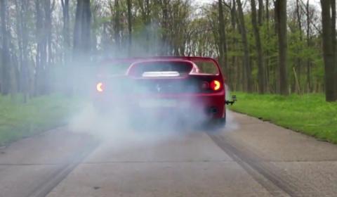 Video Ferrari F50 Burnout & Donut
