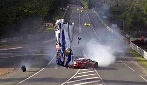 Massive Crash Davidson Le Mans