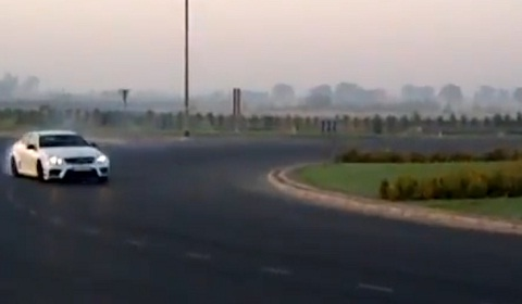 Al Thani Mercedes-Benz C63 AMG Black Series Drifts Roundabout
