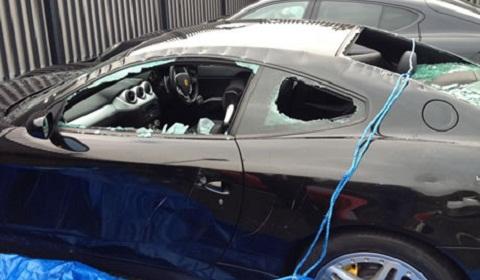 Axe-Wielding Maniac Destroys Ferrari 612 Scaglietti