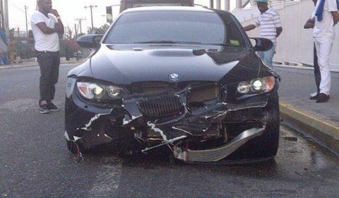 Car Crash Usian Bolt Crashes BMW M3 Again