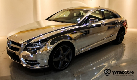 Chrome Mercedes-Benz CLS by WrapStyle
