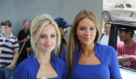Girls at Goodwood Festival of Speed 2012