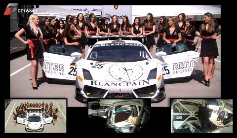 Grid Girls Reiter GT1 Lamborghini