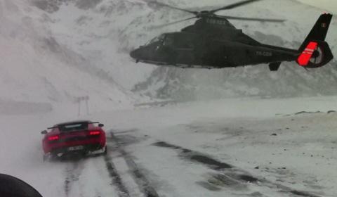 Lamborghini Gallardo Super Trofeo Stradale on Transfagarasan in Romania