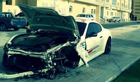 Maserati GranTurismo MC Stradale Totaled in Qatar