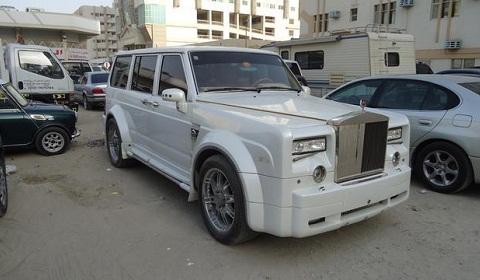 Nissan Patrol With Rolls-Royce Phantom Grille