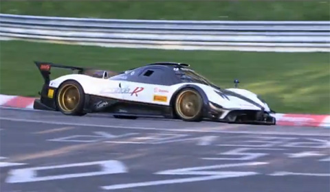 Pagani Zonda R Evo on the Ring