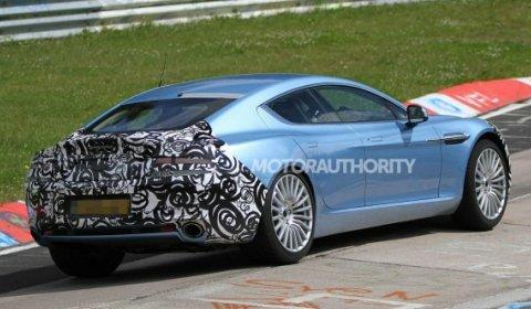 Spyshots 2013 Aston Martin Rapide S at the Nurburgring 01