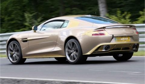 Spyshots Golden Aston Martin Vanquish Mk2 at the Nurburgring 01