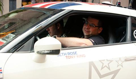 Seth Rose and Tony King Behind the Wheel