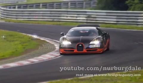 Video: Bugatti Veyron Super Sport at Nurburgring Nordschleife to Set