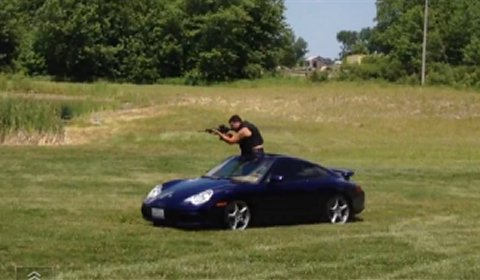 Video Drive-by Shooting in Porsche 911