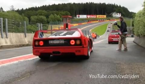 Video Ferrari F40 at Spa Francorchamps