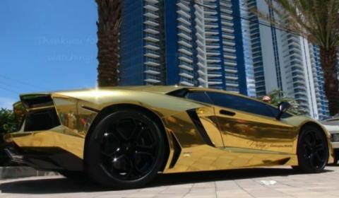 Lamborghini on 2012 Lamborghini Aventador Lp700 4 To Be Foil Wrapped In Chrome Gold