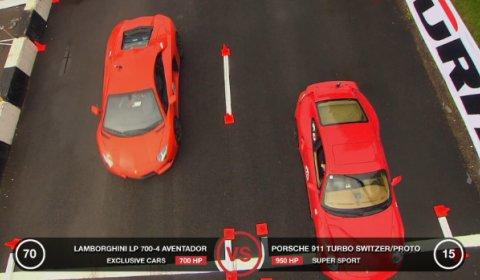Video Lamborghini Aventador vs Porsche 911 Turbo by Switzer