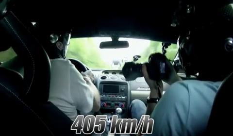 Video Lamborghini Gallardo UR Twin Turbo Hits 405kmh at Unlim 500