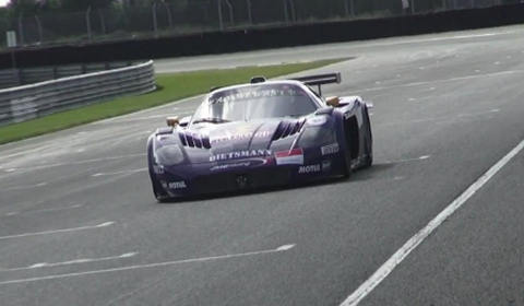 Video Maserati MC12 GT1 in Action on Track