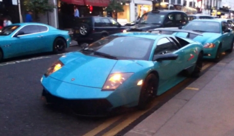 Video Turquoise Al-Thani Supercars Back in London