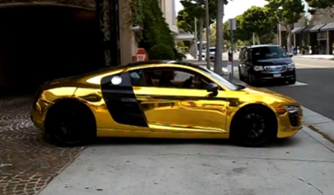Video Tyga's Golden Chrome Audi R8