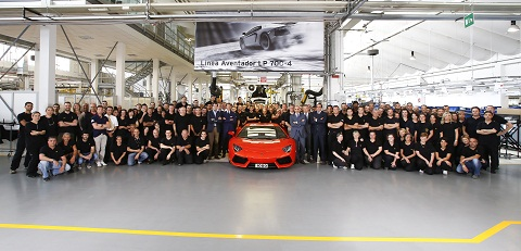 1000th Lamborghini Aventador Produced