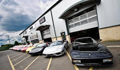 Amari Supercars Ferrari Display