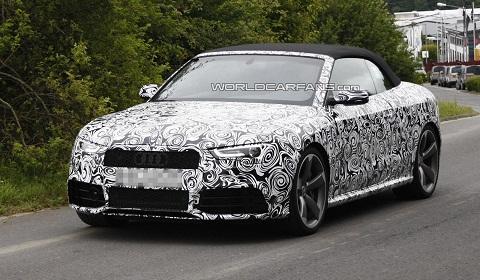 Audi RS5 Cabriolet Spyshots