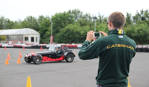 Caterham F1 Drift Experience by New Motoring