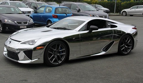 Chrome Wrapped Lexus LF-A Delivered in Australia