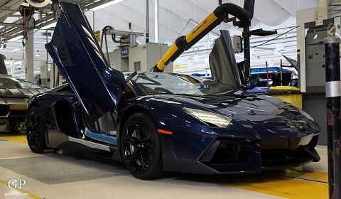 Dark Blue Lamborghini Aventador
