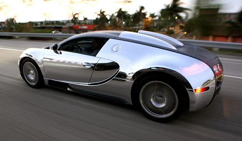 Flo Rida Chrome Wrapped Bugatti Veyron