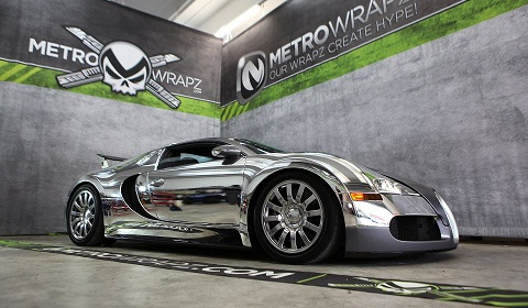 Flo Rida's Chrome Wrapped Bugatti Veyron