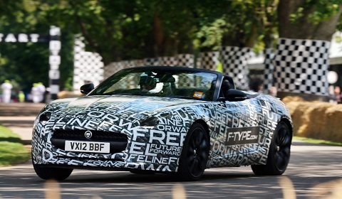 Jaguar F-Type at Goodwood Festival of Speed 2012