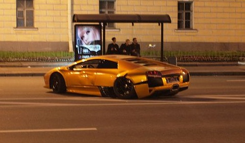Lamborghini LP640 Crashed in Russia