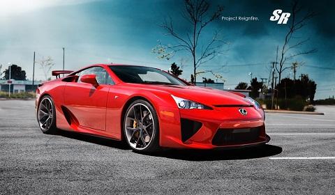 Lexus LF-A Project Reignfire on PUR Wheels