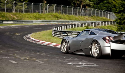 prototype 0 pagani automobili at the n rburgring for. Black Bedroom Furniture Sets. Home Design Ideas
