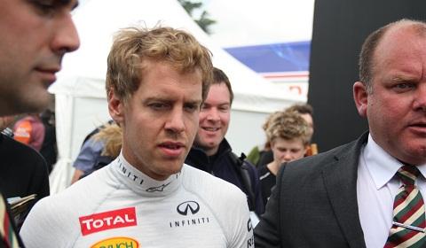 Sebastian Vettel at Goodwood Festival of Speed 2012